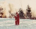 Debbie making a snowball 1982