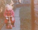 Debbie on her trike1982
