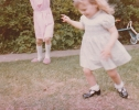 Debbie playing in the garden 1982