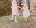 Debbie playing with a friend 1982