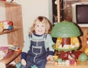 Debbie playing with her toys 1982