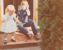 Daniel and Debbie on the Gordon Road doorstep Spring 1982