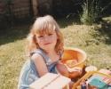 Debbie playing in the garden Summer 1982