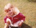 Debbie in the lawn Summer 1982