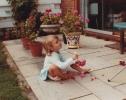Debbie murdering Grandma Jackson's flowers! 1982