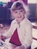 Debbie at her playschool desk -1983