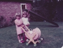 Debbie & Becky in Willow Close garden - 1983