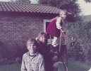 Daniel & Debbie in Willow Close garden - 1983