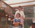 Freda with Mum Grace in conservatory