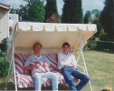 Jane's friend and Chris on Stanton sun lounger