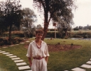 Jane at family garden party, 1985