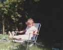 Sean in garden chair