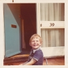 At 39 Gordon Road, aged 2, 1973