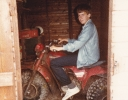 Daniel on Quad bike at Thormaid 1985