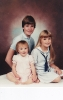 Portrait of Dan, Debs and Dels 1985