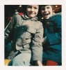 Daniel and friend for visit to the fair, March 1977