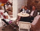 In a cafe on the way to Bude, July 1985