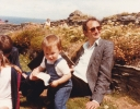 Me and Della on the rocky beach in Bude July 1985