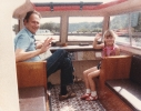 Debbie and I on a boat Mundesley, August 1985