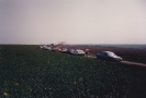 Parking the car at Little Paxton Wood, Good Friday 1987