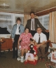 Grandma and Grandad with me, Daniel & Debbie, Christmas at Willow Close, December 1983