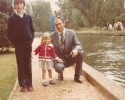 Daniel, Debbie and I smartly dressed Summer 1982