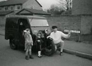 My 1939 Reliant van and local children, 1980's