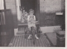 Me with my trike and Snowball Napier Road, 1953