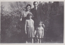 With my mum and dad and Freda c1951