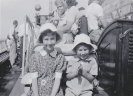 Sister Freda and I on boat trip c1950