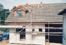 Start of Harnser roof tiling onto felted and battened roof late 1992