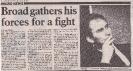 1st  September 1984 Broad gathers forces