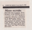 29th November 1984 BMMG recruiting new members Computer Weekly