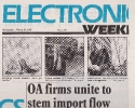 OA firms unite to stem import flow; Electronics Weekly March 20th 1985 Pt1