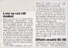 A new low cost standard - Spring 1985