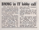 January 1985 BMMG in IT lobby call for PITCOM subcommittee