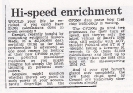 Comart hi-speed enrichment, Standard 31 July 1984