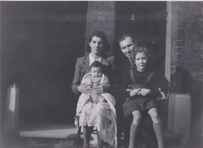 Me as a baby with my family, March 1947